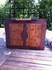 Hand Made Real Snakeskin Bag Briefcase Leather Unique Unusual