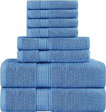 8 Piece Towel Set includes Bath Towel Hand Towel Washcloth 600 Gsm Utopia Towels