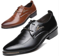 New Men's England Leather Shoes Dress Formal Business Pointed Casual Shoes