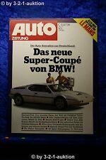 Auto Zeitung 14/77 BMW M1 Alfa Romeo Alfetta V8 Targa m Porsche Technik + Poster
