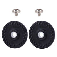 2 Rubber Wheel W/ Collars & Screws Fit Silver Reed Knitting Machine SK210 SK260