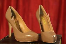Leah Vixamar Nude Leather High Heels Pumps Shoes