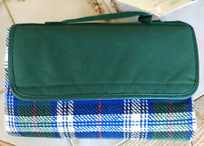 "Outdoor Irish Plaid picnic Sunshine Blanket + handle 59"" x 51"" open #637-00-440"