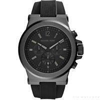 Michael Kors Watches MK8152 Dylan Black Silicone Chronograph Men's Watch
