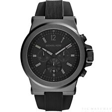 Michael Kors Watches MK8152 Dylan Black Silicone Chronograph Men's Watch