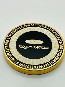 Sequoyah National Golf Club NC Magnetic Yardages Ball Marker Coin Medallion Mint
