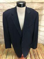 Brooks Brothers Golden Fleece Suit Jacket Blazer Mens 45 Long Navy Blue Stripe