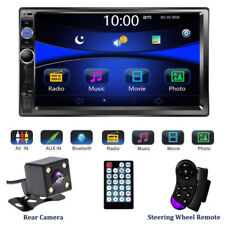 "7"" Double 2 DIN Car Stereo Audio Bluetooth Touch MP3 Player USB FM Radio+ Camera"
