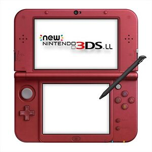 Nintendo 3DS LL Metallic Red Console System Japan NEW
