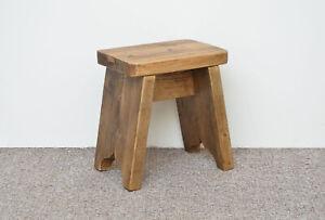 new wooden milking stool with nice wax finish Scandinavian style