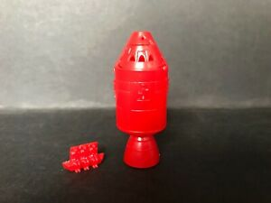 CEREAL TOY R&L SPACE AGE 1970 SPACE CAPSULE & ASTRONAUTS - RED