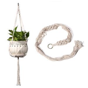 Macrame Plant Hanger Wall Hanging Planter Basket Rope Pot Holder Garden Decor
