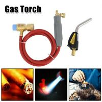 Mapp Gas Plumbing Turbo Torch-Propane Soldering Brazing Welding Kit Tool+5' Hose