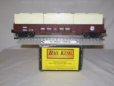 MTH RailKing RK-7206L N&W # 80007 Gondola w/ 3 Crates (O/027); wks w/ Lionel '97