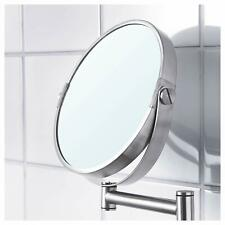 "IKEA  "" BROGRUND MAKEUP MIRROR "" Stainless Steel /  11.5 x 10.7 x 1.3 inches"