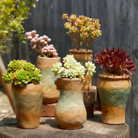 Retro Ceramic Flower Pots Plant Succulent Planter Bonsai Holder Home Garden Deco