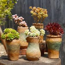 Retro Ceramic Flower Pots Plant Succulent Planter Bonsai Holder Home Garden Deco