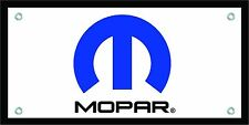 Mopar Logo Banner 18 x 36 Man Cave Garage Chrysler Dodge
