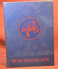 "School Annuals Yearbook ""Bear Tracks"" Bearden Junior High Knoxville TN 1978"