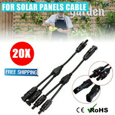 20 Pair 30A Y Band Solar Panel Cable for Ffm Mmf Wire Connector T Splitters