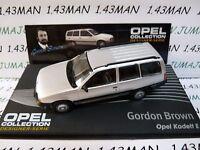 OPE133R 1/43 IXO designer serie OPEL collection : KADETT E Break G.Brown silver