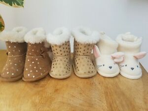 Baby girl shoes bundle 0 to 3 and 3 to 6 months.