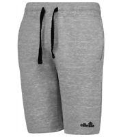Men's Ellesse Ray Fleece Cotton Drawstring Shorts Marl Grey Drawstring Pockets