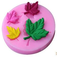 Leaves Embellisment Silicone Fondant Mould Cake Sugarcraft Chocolate Decor Mold