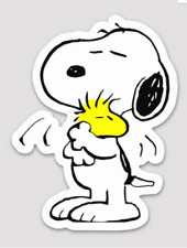snoopy 2 3.5 inch Sticker white Vinyl laptop Decal