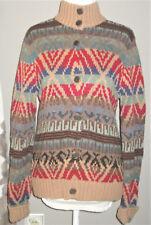 Ralph Lauren Wool Cardigan M Womens Nordic Design Sweater  (A)