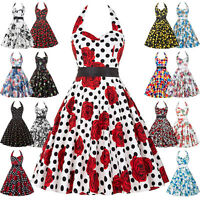 PLUS SIZE XXXL VINTAGE Style Floral 50s Retro Pin Up Dress Evening Party Gown