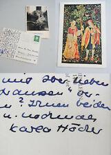 Schriftstellerin Karla HÖCKER (1901-1992): AK Berlin 1960 & beschr. Foto → KROLL