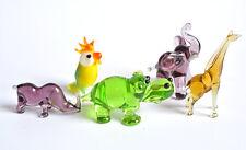 Collection 13. 5 Mini Figurine Elephant Figurine Hippo Rhino Giraffe Parrot