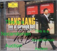 NM RARE SIGNED CD LANG LANG LIVE AT CARNEGIE HALL AUTOGRAPHED NEW YORK CITY FSHP