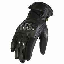 Gants imperméable noir en cuir pour motocyclette Homme