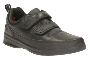 Clarks REFLECT ACE Boys Black Leather School Shoes 1 - 1.5 F Fit NEW BOXED