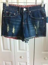 DELIAS DISTRESSED DENIM SHORTS SIZE 00 NEW WITHOUT TAGS  D#1-2-3-4