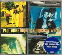PAUL YOUNG Hope In A Hopeless World 4 TRACK UK CD SINGLE FREE WW SHIPPING