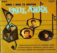 PAUL ANKA songs i wish i'd written CDS1070 uk camden LP PS EX/EX