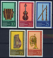 ALEMANIA/RDA EAST GERMANY 1977 MNH SC.1817/1821 Musical instruments