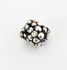 "Genuine Pandora two tone Charm ""Diamond Flowers"" - 790317D"