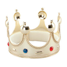 Bristol Novelty BA458 Superior Kings Crown for Fancy Dress Gold One Size