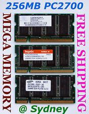 256MB PC2700 333mhz DDR Sodimm LAPTOP Memory Ram - SALE