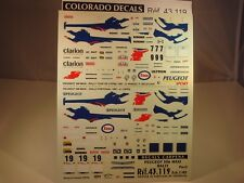 DECALS 1/43 PEUGEOT 306 MAXI RALLY PART 2 - CARPENA  43119