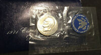 1971-S Eisenhower IKE Silver Dollar Gem US Mint Blue Pack Gem BU Uncirculated **