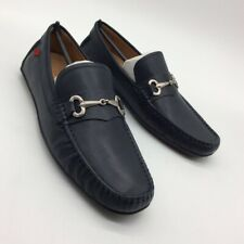 Marc Joseph New York Mens Wall St Navy Leather Loafer Slip On Horsebit  8.5 New