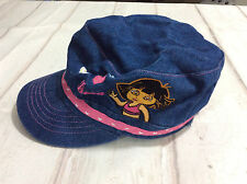 Dora the Explorer Blue Jean Denim Hat / Baseball Cap ~ Pink Trim - Toddler Size