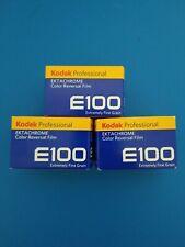 (3) Three Rolls Of Kodak E100 Ektachrome 35mm Film Expiration 12/2021 NO RESERVE