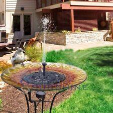 Solar Powered Outdoor Garden Pond Pool Floating Water Bird Bath Fountain
