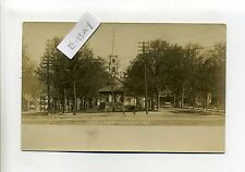 Fitchburg MA Mass RPPC real photo Upper Common, tiny people, bicycle, early